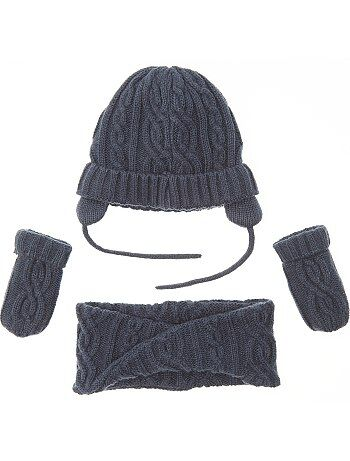 Set met muts, snood en wanten - Kiabi