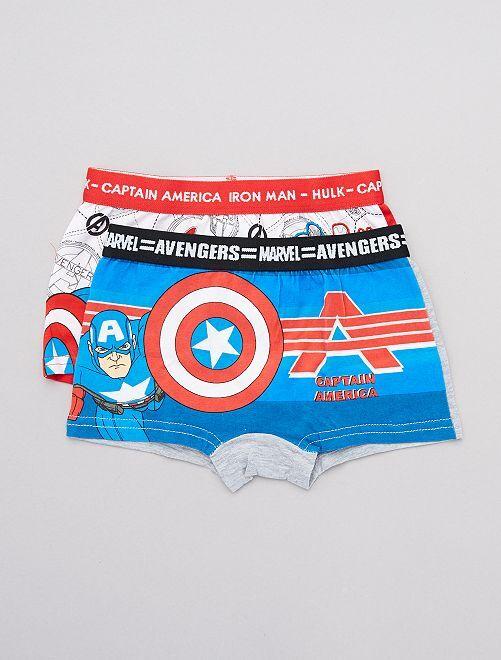 Set van 2 boxers 'Avengers'                                         wit / blauw