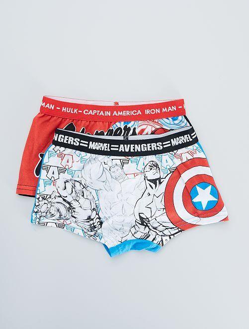 Set van 2 boxers 'Avengers'                                         wit / rood