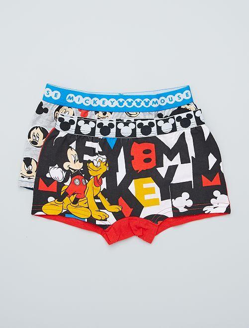Set van 2 boxershorts 'Mickey'                                         wit / grijs