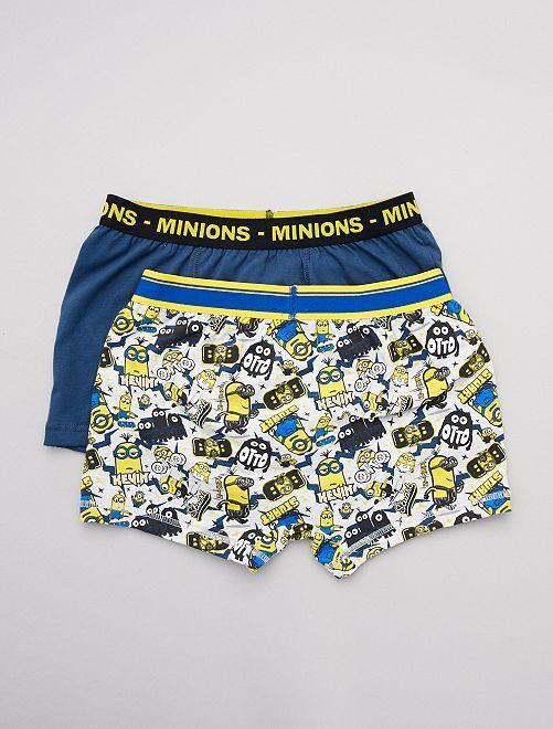 Set van 2 boxershorts 'Minions'                             BLAUW