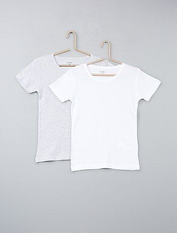 Set van 2 effen T-shirts - Kiabi