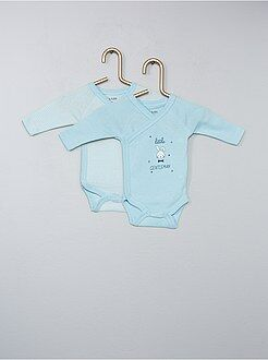 Premature baby - Set van 2 gekruiste rompertjes van 100% katoen - Kiabi