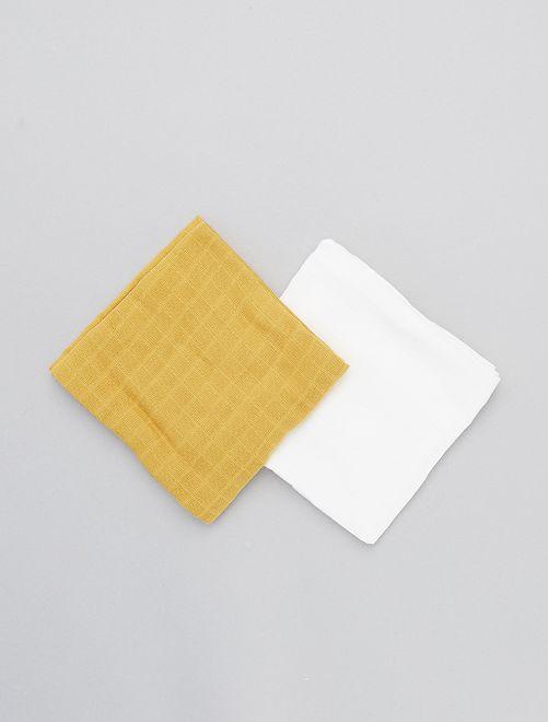Set van 2 hydrofiele doeken                             GEEL