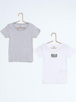 Jongens t-shirts - Set van 2 katoenen T-shirts