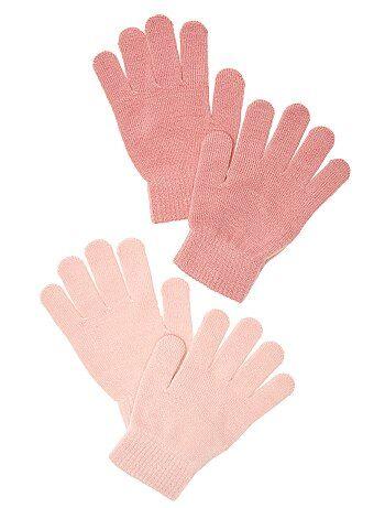 Set van 2 paar effen handschoenen - Kiabi