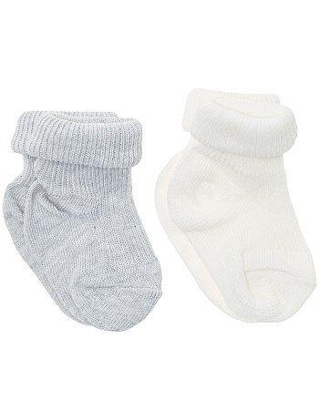 Set van 2 paar sokken met omslag - Kiabi