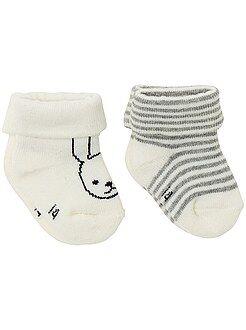 Set van 2 paar sokken met print
