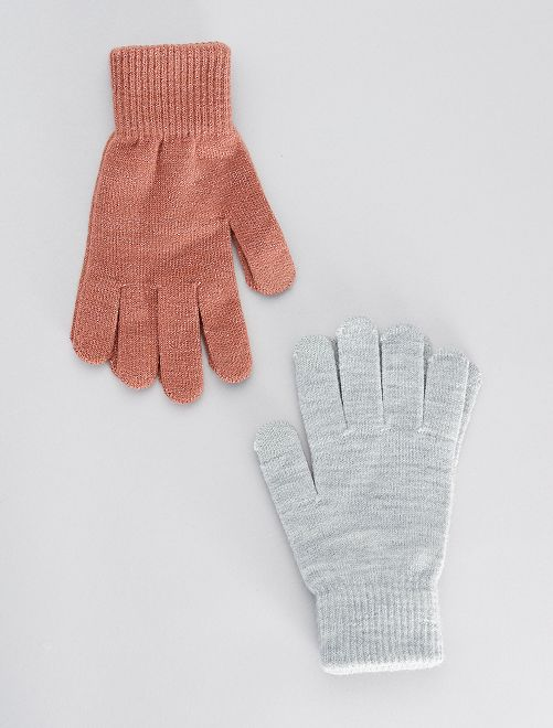 Set van 2 paar tactiele handschoenen                                         ROSE
