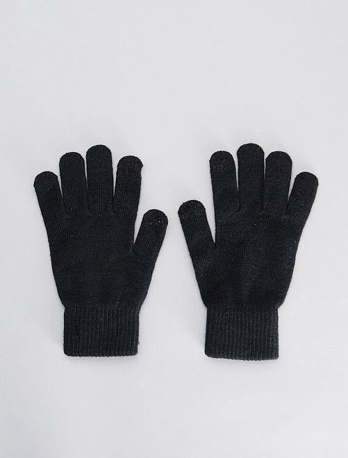 Set van 2 paar tactiele handschoenen                                 zwart