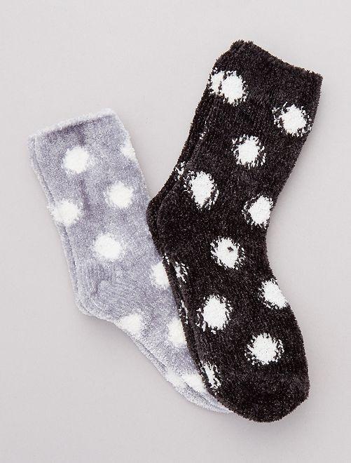 Set van 2 paar warme sokken                                         zwart