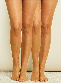 Sokken, panty's - Set van 2 panty's van ultralichte voile 8D - Kiabi
