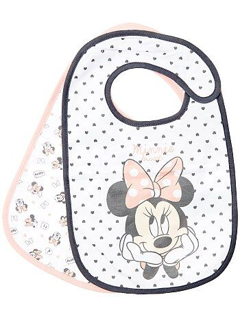 Meisje 0-36 maanden - Set van 2 slabbetjes van 'Minnie Mouse' van 'Disney' - Kiabi