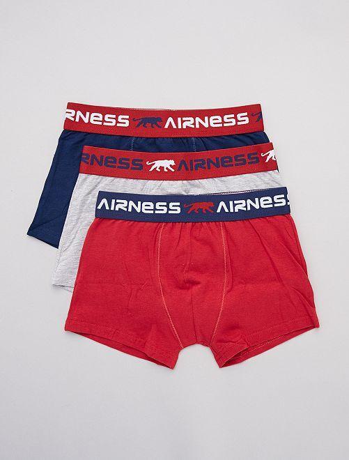 Set van 3 'Airness'-boxershorts                             BLAUW