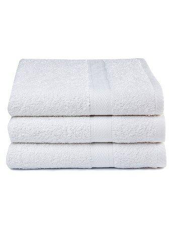 Set van 3 badlakens van 100% katoen - Kiabi