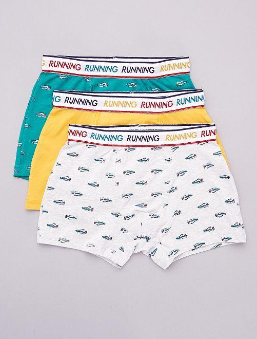Set van 3 boxers                                 BLAUW