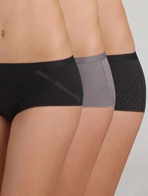 Set van 3 Boxers 'Les Pockets' van DIM                                                                 zwart Lingerie maat s-xxl