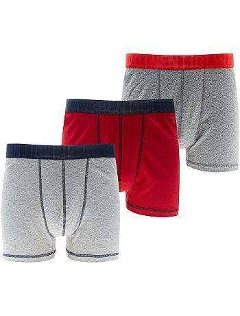 Set van 3 boxershorts, grote maten - Kiabi