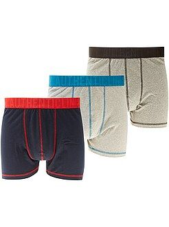 Ondergoed - Set van 3 boxershorts, grote maten - Kiabi