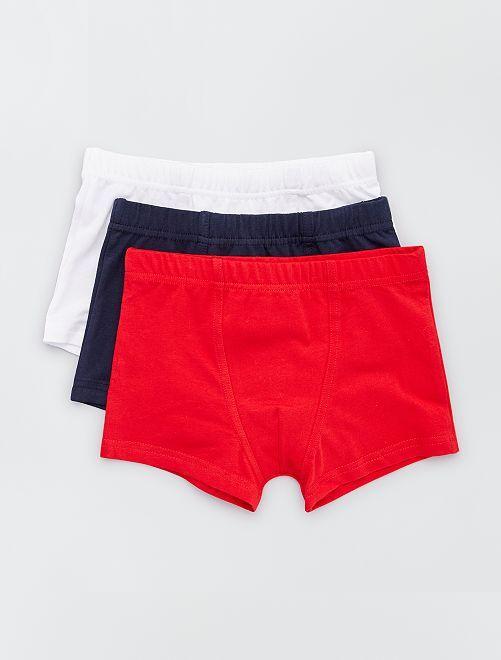 Set van 3 boxershorts                                         ROOD