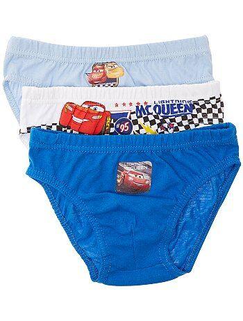 Jongenskleding 3-12 jaar - Set van 3 'Cars'-onderbroekjes - Kiabi