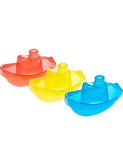 Knuffel, knuffeldoek - Set van 3 drijvende bootjes voor in bad