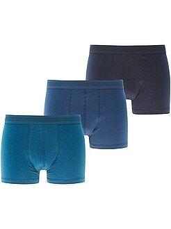 Ondergoed - Set van 3 effen boxershorts - Kiabi