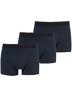 Ondergoed - Set van 3 effen boxershorts