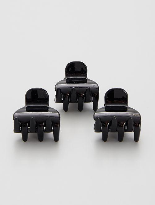 Set van 3 haarclipjes met krabben                                                                 zwart