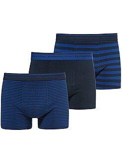 Ondergoed - Set van 3 katoenen stretch boxershorts