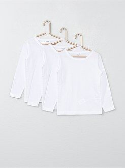 Jongens t-shirts - Set van 3 katoenen T-shirts met lange mouwen