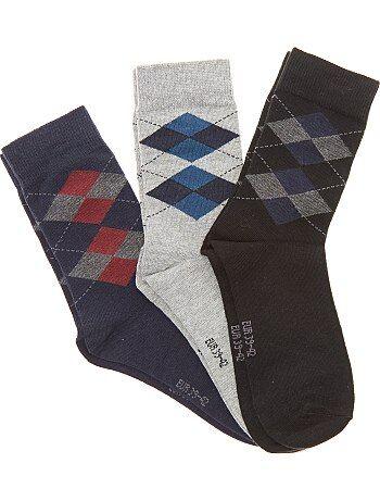 Set van 3 paar jacquard sokken - Kiabi