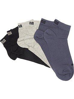 Herenmode grote maten Set van 3 paar korte 'Puma' sokken