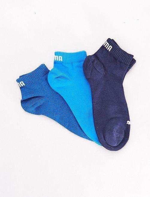 Set van 3 paar korte 'Puma' sokken                                                                                                                                                     BLAUW Lingerie maat s-xxl