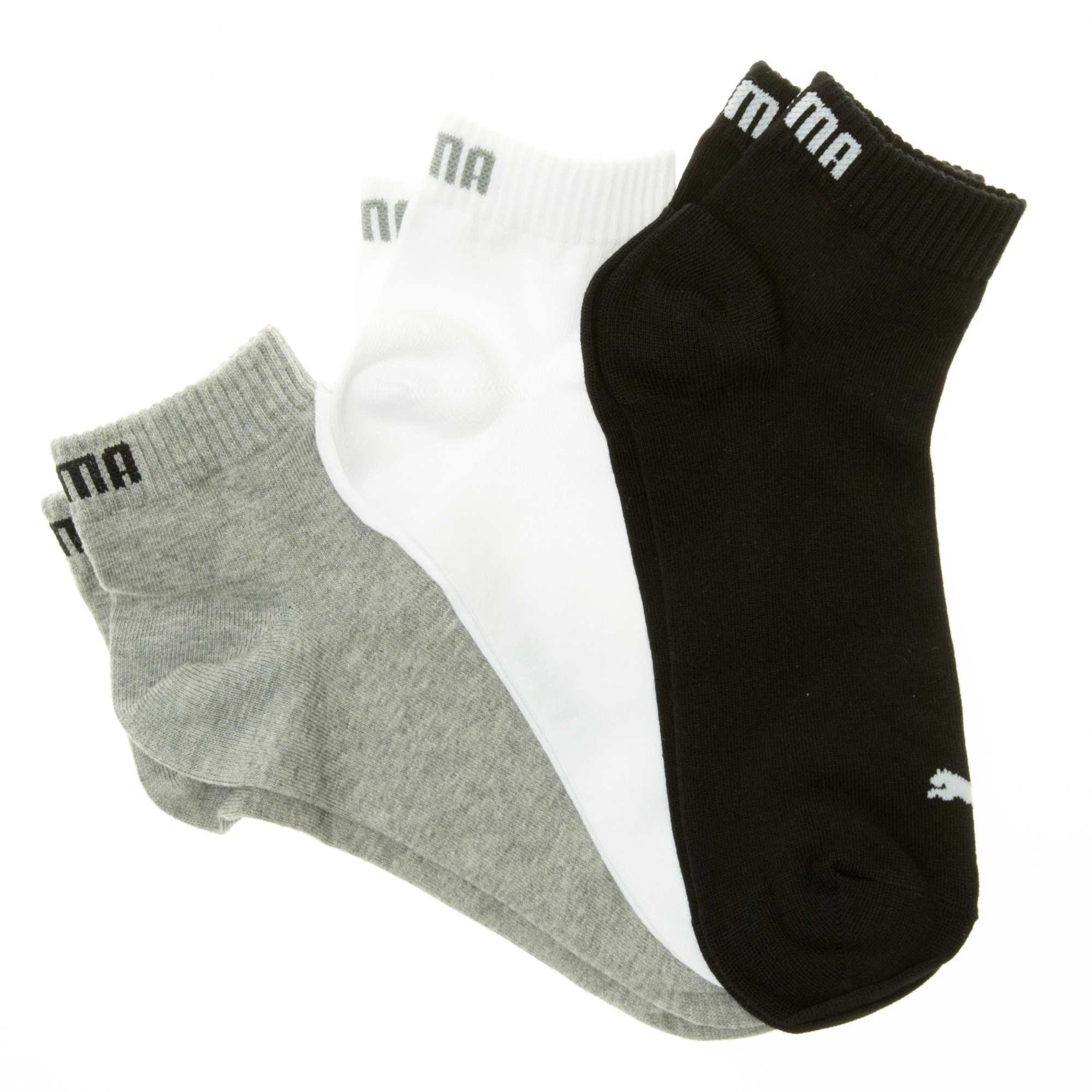 d5560934c18178 Set van 3 paar korte 'Puma' sokken Herenkleding - grijs /wit / zwart ...