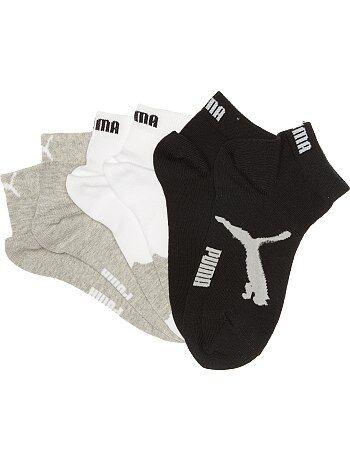 Set van 3 paar korte 'Puma' sokken met korte schacht - Kiabi