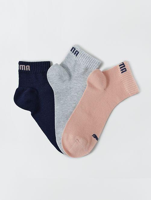 Set van 3 paar korte 'Puma' sokken                                                                                                                 ROSE