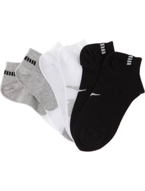 Set van 3 paar korte 'Puma' sokken                                                                 wit / grijs / zwart