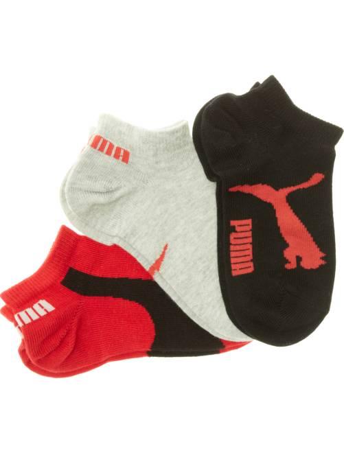 Set van 3 paar korte 'Puma' sokken                                         zwart / grijs / rood