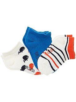 Sokken, maillot - Set van 3 paar lage sokken - Kiabi