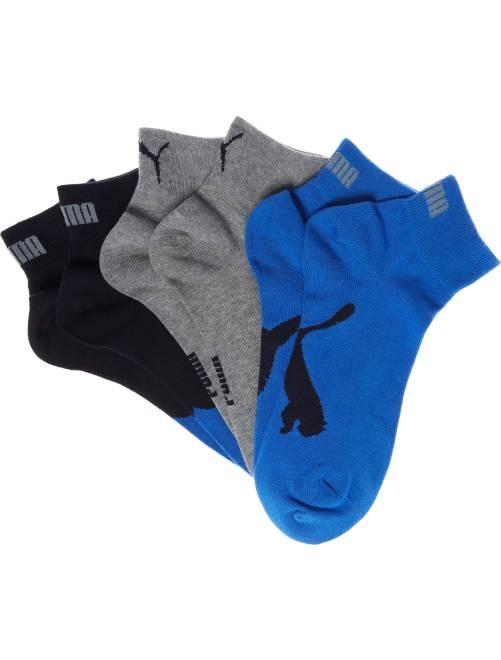 Set van 3 paar 'Puma' korte sokken                                                                                         blauw Herenkleding