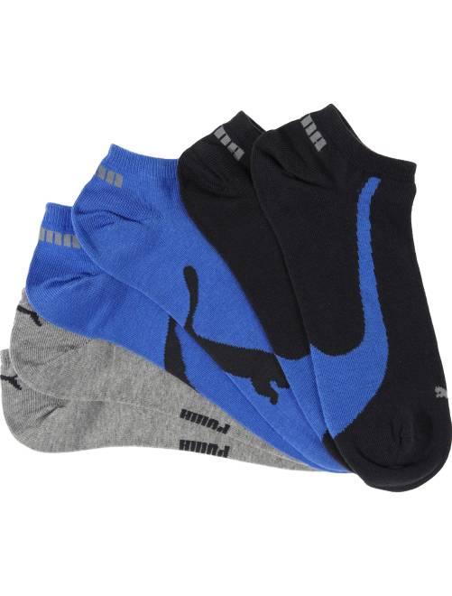 Set van 3 paar 'Puma' sokjes                                         blauw