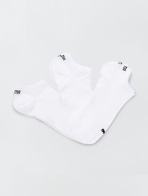 Set van 3 paar 'Puma' sokjes                                                     wit