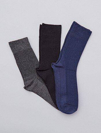 Herenmode grote maten - Set van 3 paar sokken - Kiabi