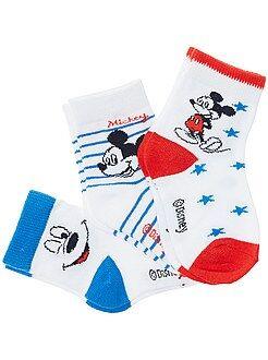 Sokken, maillot - Set van 3 paar sokken met 'Mickey'-motief - Kiabi