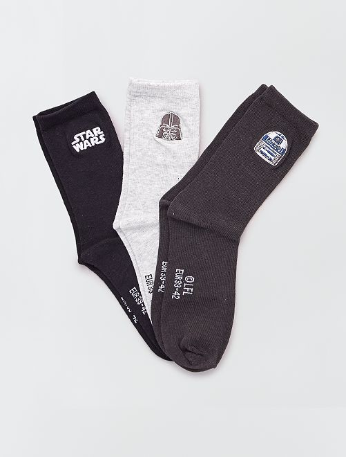 Set van 3 paar sokken 'Star Wars'                             BLAUW
