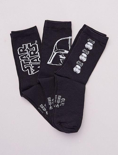 Set van 3 paar sokken 'Star Wars'                             ZWART