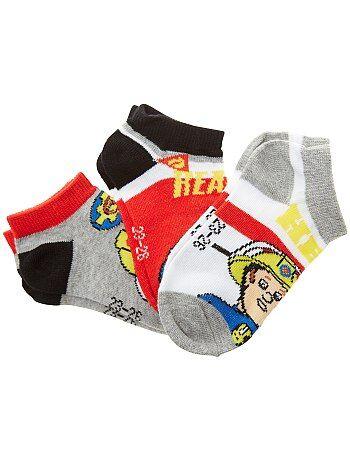 Set van 3 paar sokken van 'Brandweerman Sam' - Kiabi