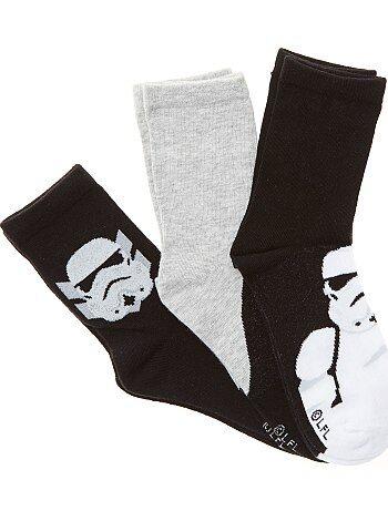 Set van 3 paar sokken van 'Star Wars' - Kiabi