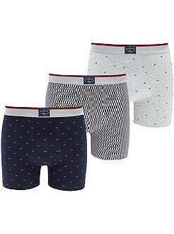 Ondergoed - Set van 3 shorty's met verlengd model